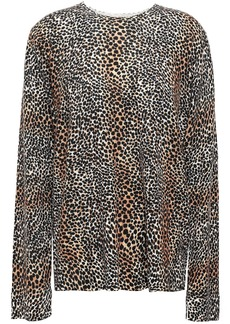 Equipment Woman Leopard-print Wool Sweater Animal Print