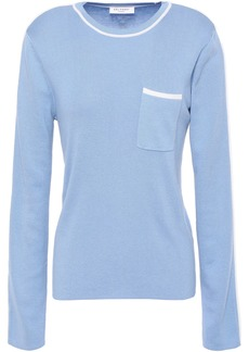 Equipment Woman Lison Silk And Cotton-blend Sweater Azure