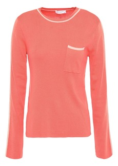 Equipment Woman Lison Silk And Cotton-blend Sweater Coral