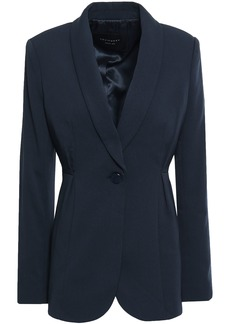Equipment Woman Malorie Pleated Cady Blazer Midnight Blue