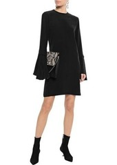 Equipment Woman Mari Fluted Washed-silk Mini Dress Black