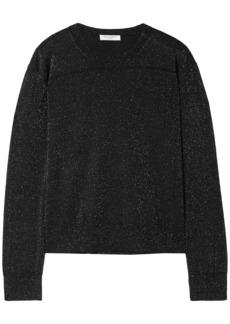 Equipment Woman Metallic Wool-blend Top Charcoal