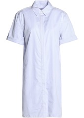 Equipment Woman Mirelle Striped Cotton Shirt Dress White