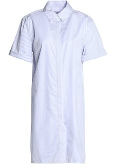 Equipment Woman Mirelle Striped Cotton Shirt Dress White
