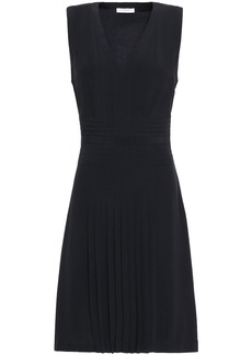 Equipment Woman Norice Pintucked Crepe De Chine Dress Midnight Blue