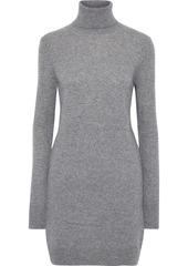 Equipment Woman Oscar Cashmere Turtleneck Mini Dress Gray