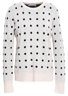 Equipment Woman Polka-dot Jacquard-knit Sweater Pastel Pink