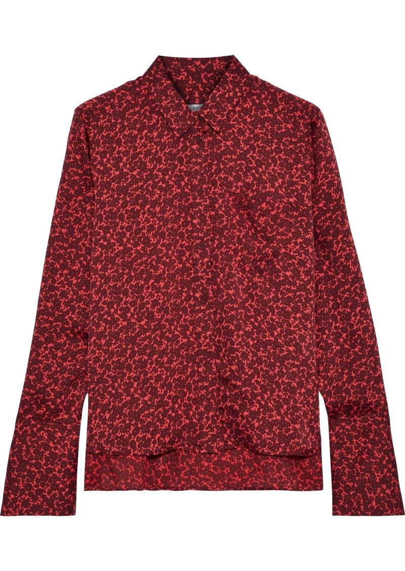 Equipment Woman Printed Satin Shirt Red