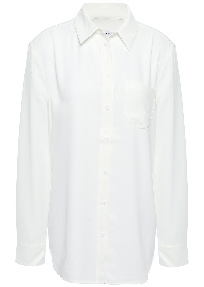 Equipment Woman Reese Washed-crepe Shirt White