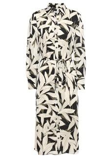 Equipment Woman Rosalee Floral-print Crepe De Chine Midi Shirt Dress Cream