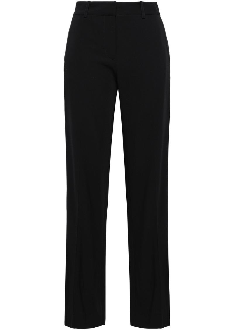 Equipment Woman Hagan Satin-trimmed Twill Straight-leg Pants Black