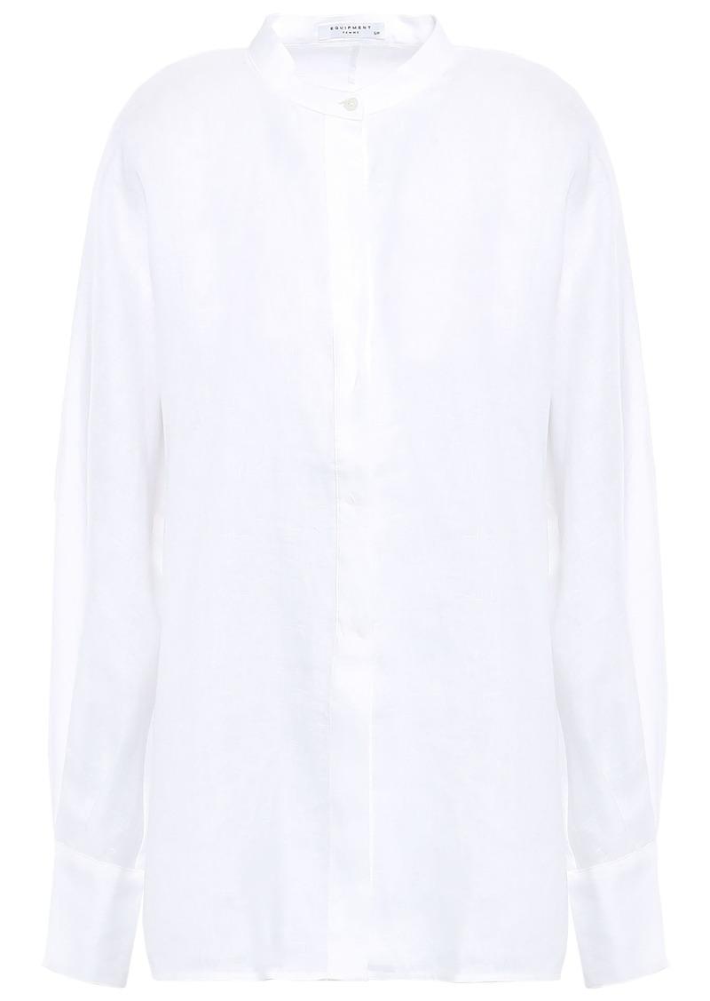 Equipment Woman Sedaine Linen Shirt White