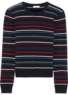 Equipment Woman Shirley Striped Cashmere Sweater Black