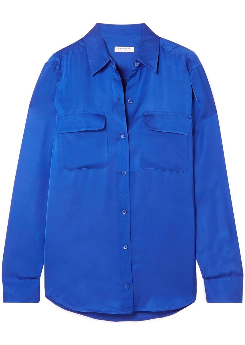Equipment Woman Signature Satin Shirt Bright Blue