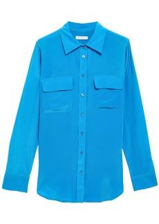 Equipment Woman Silk Shirt Azure