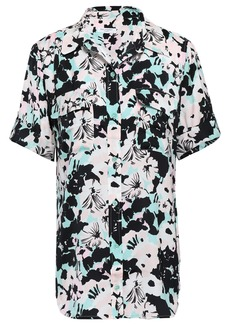 Equipment Woman Slim Signature Floral-print Crepe De Chine Shirt Pastel Pink