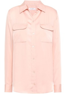 Equipment Woman Slim Signature Washed-satin Shirt Blush