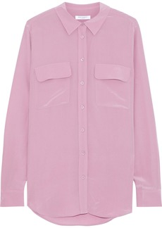 Equipment Woman Washed-silk Shirt Lavender