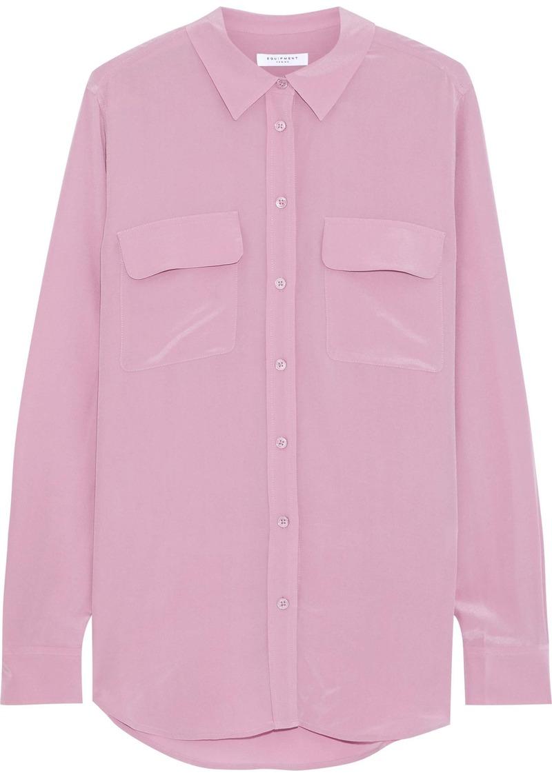 Equipment Woman Washed-silk Shirt Lavender