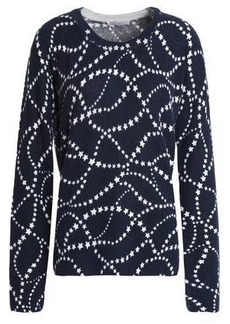 Equipment Woman Printed Cashmere Sweater Midnight Blue