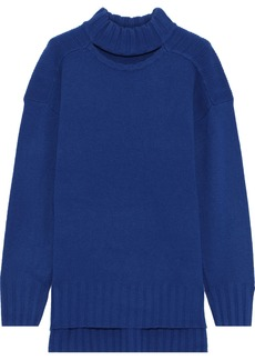 Equipment Woman Stratford Cutout Wool And Cashmere-blend Sweater Cobalt Blue