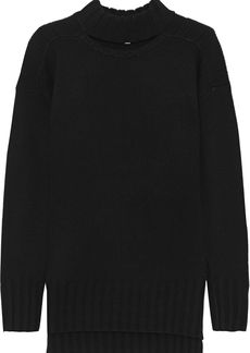 Equipment Woman Stratford Cutout Wool And Cashmere-blend Sweater Black