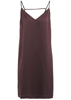 Equipment Woman Tansie Open-back Washed-satin Slip Dress Merlot