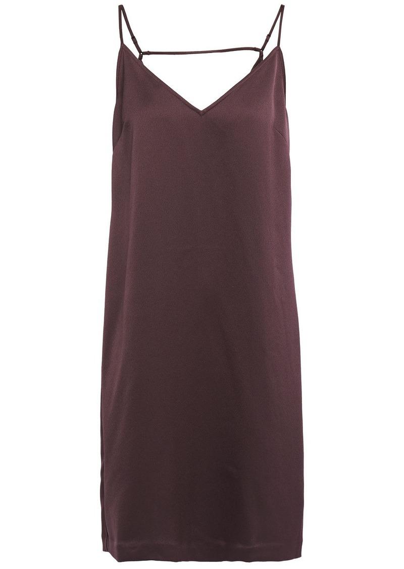 Equipment Woman Cutout Satin-crepe Slip Dress Merlot
