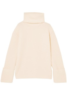 Equipment Woman Uma Oversized Wool And Cashmere-blend Turtleneck Sweater Ivory