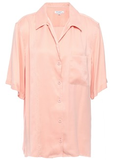 Equipment Woman Washed Silk-blend Shirt Blush