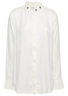 Equipment Woman Washed Silk-blend Shirt White
