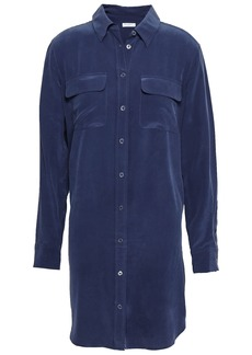 Equipment Woman Washed-silk Mini Shirt Dress Navy