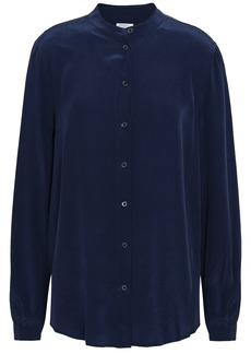 Equipment Woman Henri Washed-silk Shirt Navy