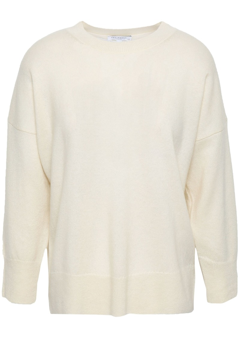 Equipment Woman Wool And Cashmere-blend Sweater Ivory