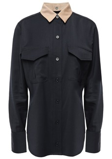 Equipment Woman Wool Shirt Black
