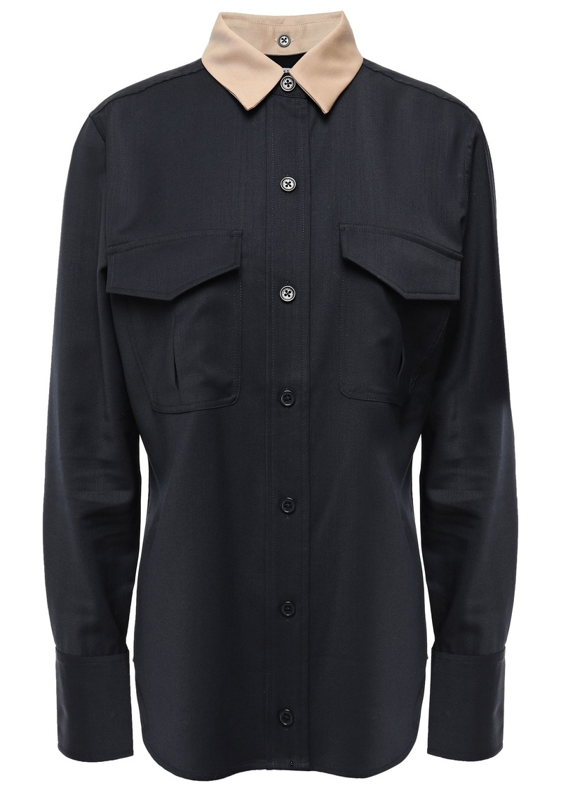 Equipment Woman Wool Shirt Black