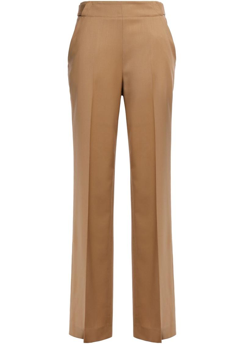 Equipment Woman Wool-twill Wide-leg Pants Light Brown