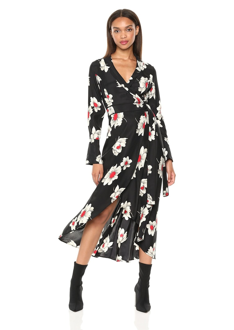 Equipment Women's Antiquity Floral Printed Gowin Dress  Extra Small