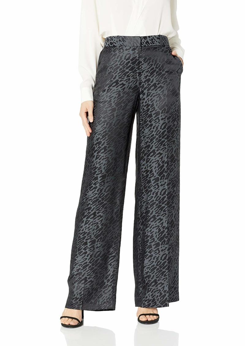 Equipment Women's Arwen Leopard Blend Jacquard Silk Trouser