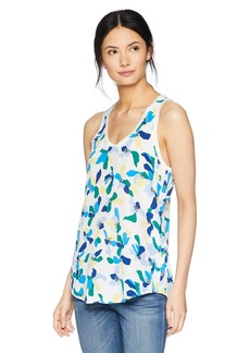 Equipment Women's Colorblock Floral Printed Mel Tank  Extra Small