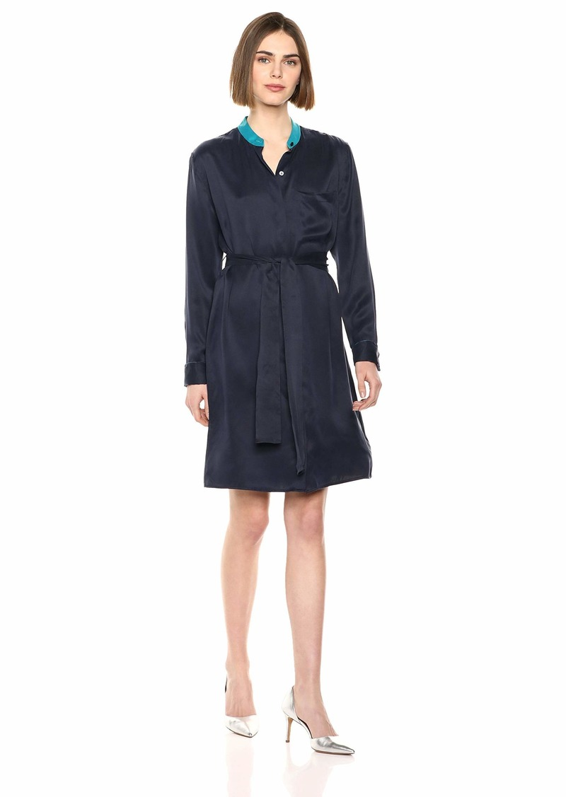 Equipment Women's Colorblock Ravena Silk Shirt Dress