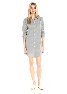 Equipment Women's Cross Dye Cotton Shirting Brett Dress  M