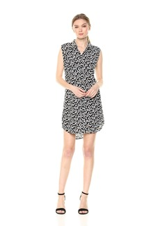 Equipment Women's Endless Hearts Printed Sleeveless Slim Signature Dress  Extra Small