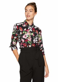 Equipment Women's Floral Symphany Printed Signature Blouse