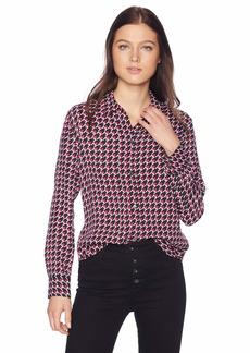 Equipment Women's Leema Houndstooth Star Printed Crepe Shirt