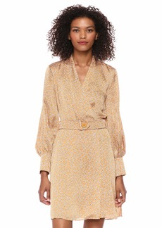 Equipment Women's Long Sleeve Fanetta Dress ocre Multi