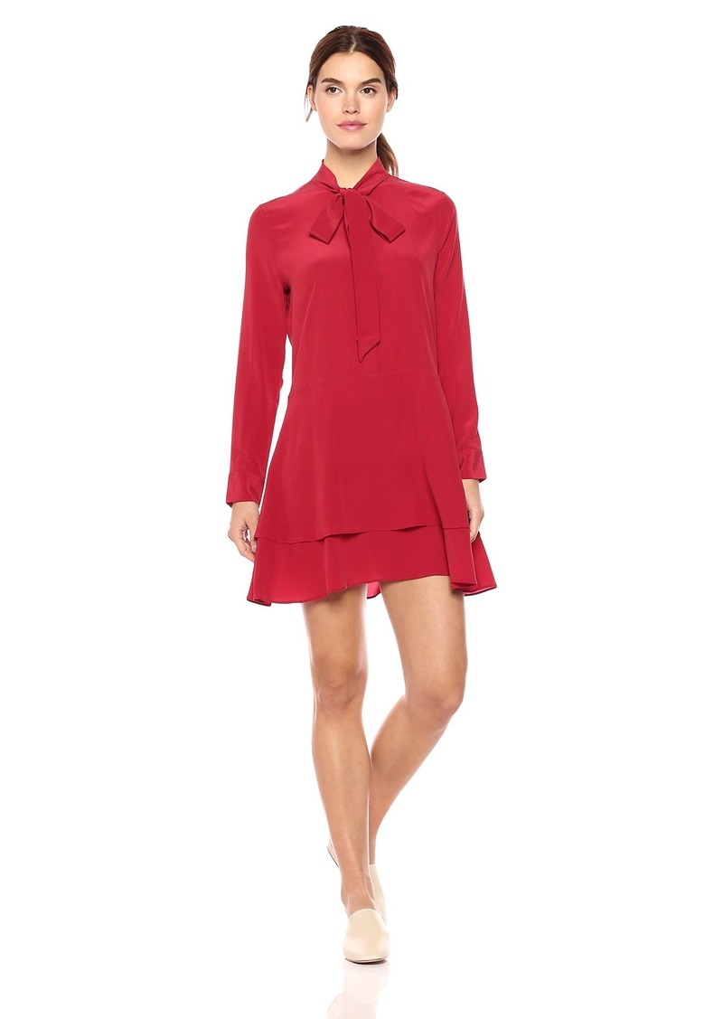 Equipment Women's Natalia Tie Neck Dress red Nouveau S