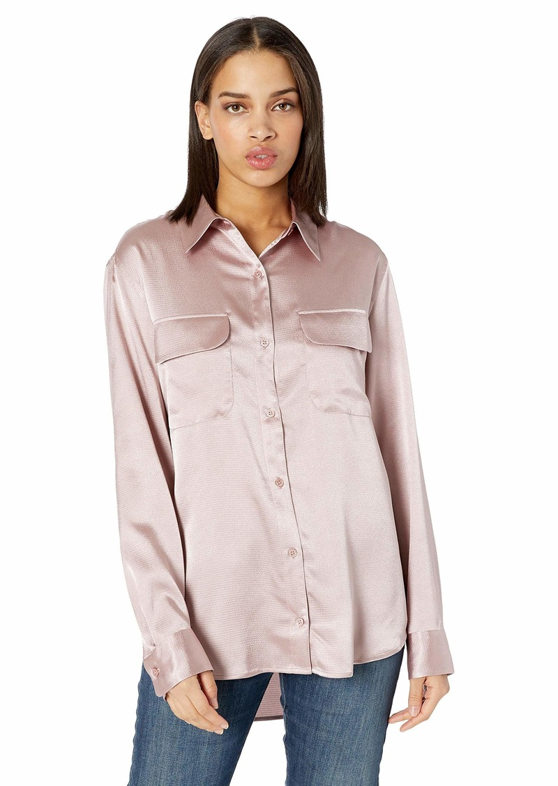 Equipment Womens New Signature Shirt ciel Mauve Extra Small
