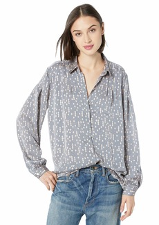 Equipment Women's Printed Long Sleeve Bouvier Blouse