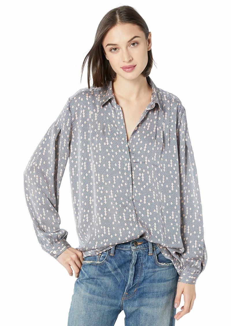 Equipment Women's Printed Long Sleeve Bouvier Blouse